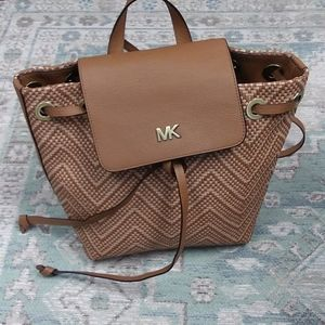 Michael Kors Junie Leather Backpack